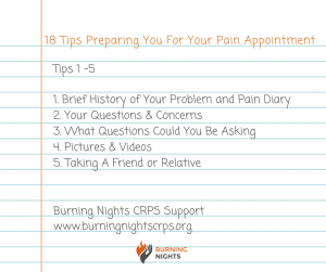 Receiving your first pain management appointment letter can give you mixed emotions all at once. Our blog, 18 Tips Preparing You For Your Pain Appointment, will hopefully help you get ready for the appointment to ensure that you make the most out of your time. Tips 1 - 5 are to help you leading up to the pain appointment itself
