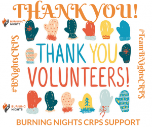 Volunteers Week 2018 - Thank You to all the volunteers who give up their time to help and support others who are affected by Complex Regional Pain Syndrome (CRPS).