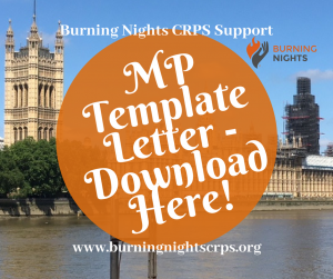 Campaign To Raise Awareness of Complex Regional Pain Syndrome in Westminster - MP Template Letter