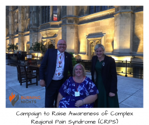 Campaign to Raise Awareness of Complex Regional Pain Syndrome (CRPS) in Westminster - Victoria our founder, her husband Michael and Ruth George MP