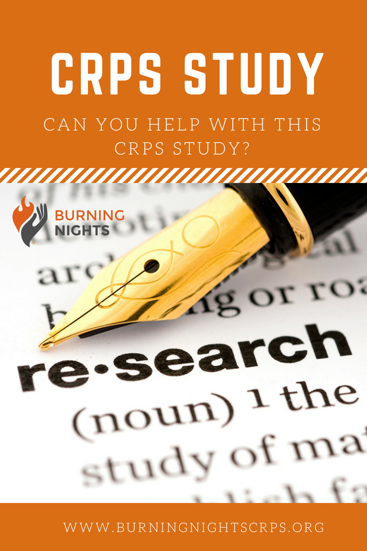 Can You Help With This CRPS Study? Are you a young people with CRPS or their parent/caregiver and willing to help us with our research studies to look at CRPS in young people?