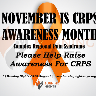 Help us raise awareness of Complex Regional Pain Syndrome (CRPS) during CRPS Awareness Month 2019