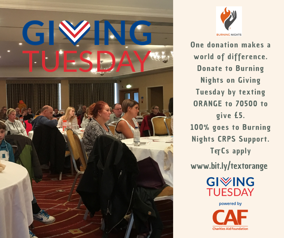 This Giving Tuesday 2018 we are raising awareness of Burning Nights CRPS Support. Why not show your support by sharing this event?