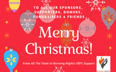 Merry Christmas & Happy New Year 2019 from all the team at Burning Nights CRPS Support