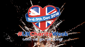 UK Charity Week 2018 is starting on Monday 3rd December 2018! Why not support us on social media?