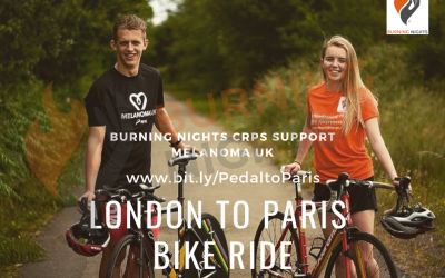Support Izzy and Ben in their London To Paris Bike Ride fundraiser | Burning Nights CRPS Support