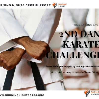 2nd Dan Karate Challenge in aid of Burning Nights CRPS Support charity
