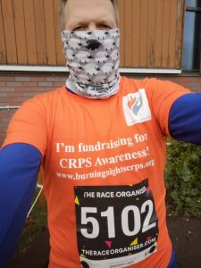Support Robert in his 5 Half Marathons For CRPS fundraiser in aid of Burning Nights CRPS Support