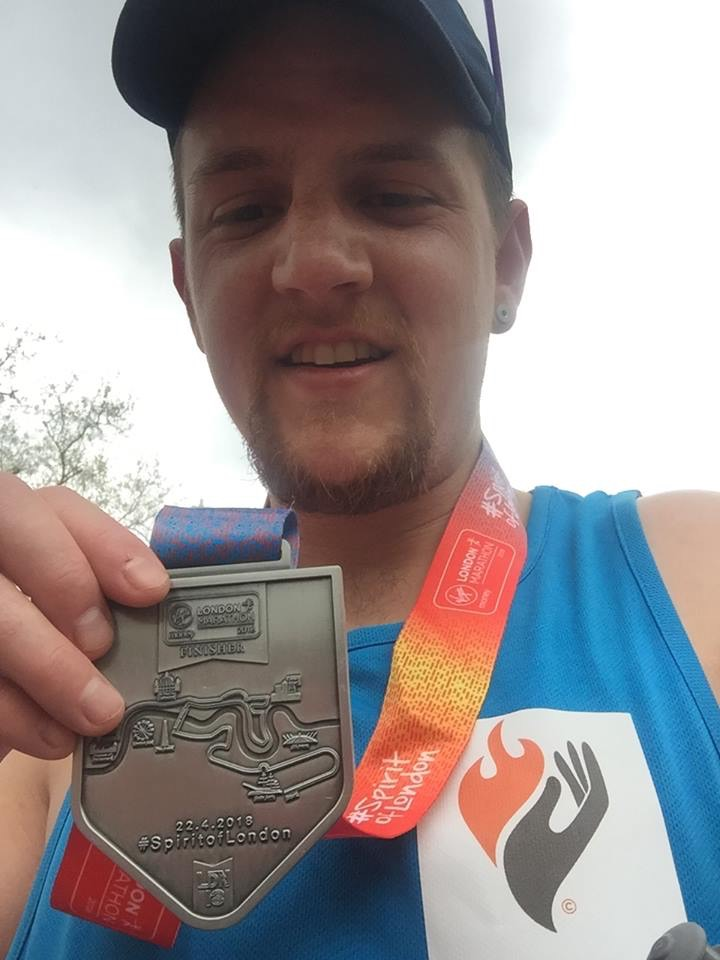 Craig McAllister was the winner of our charity's ballot place for the London Marathon 2018. Here's Craig with his finishers medal!