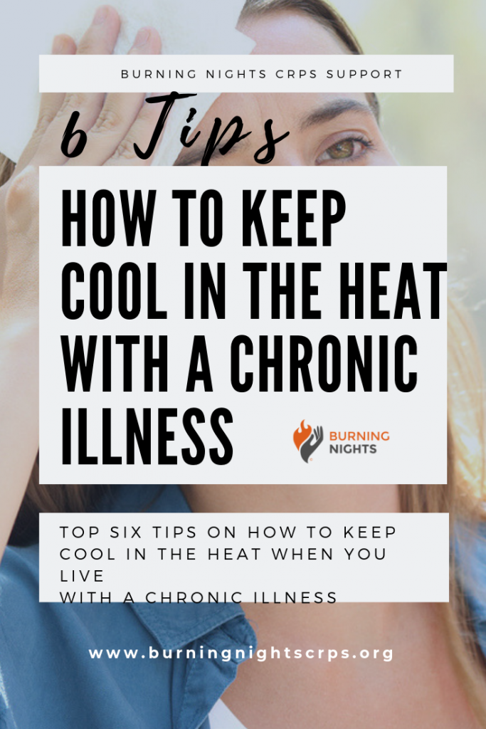 Read our six top tips on how to keep yourself cool in the heat when you live with a chronic illness