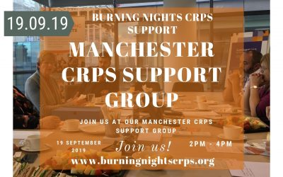Join Burning Nights CRPS Support for our next Complex Regional Pain Syndrome support group in Manchester on 19th September 2019 at 2pm-4pm.
