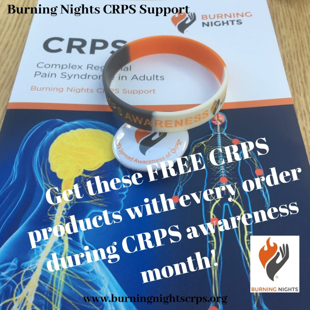 CRPS Awareness Month - Get these FREE CRPS products with every order during CRPS awareness month!