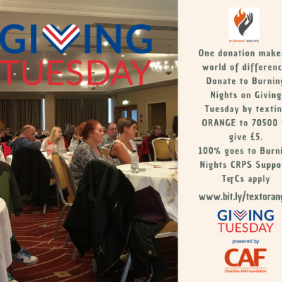Giving Tuesday 2019 - Supporting Burning Nights CRPS Support charity