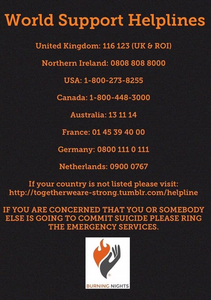 Worldwide Support Helplines