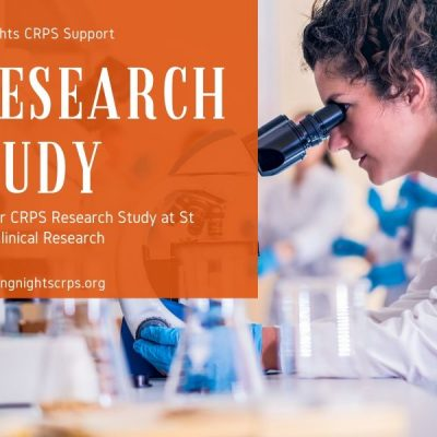 CRPS Research Study Participants Needed with St Pancras Clinical Research. The study will be closing soon so if you're interested in please contact St Pancras