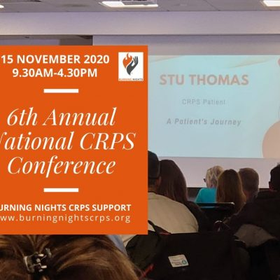 Join us at the Burning Nights CRPS Support 6th Annual National CRPS Conference in Chester on Sunday 15th November 2020