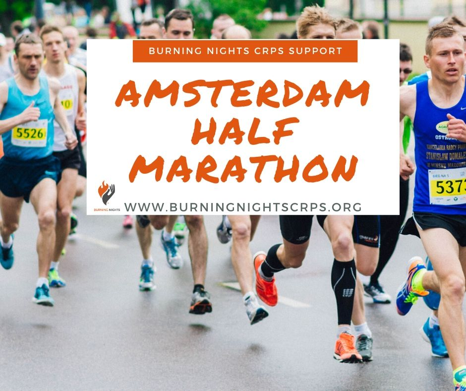 Donate to Susan's Amsterdam Half Marathon fundraiser in aid of Burning Nights CRPS Support charity and help raise awareness of Complex Regional Pain Syndrome (CRPS)
