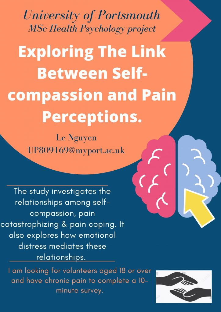 Chronic Pain Study - exploring the link between self-compassion and pain perceptions - Le Nguyen