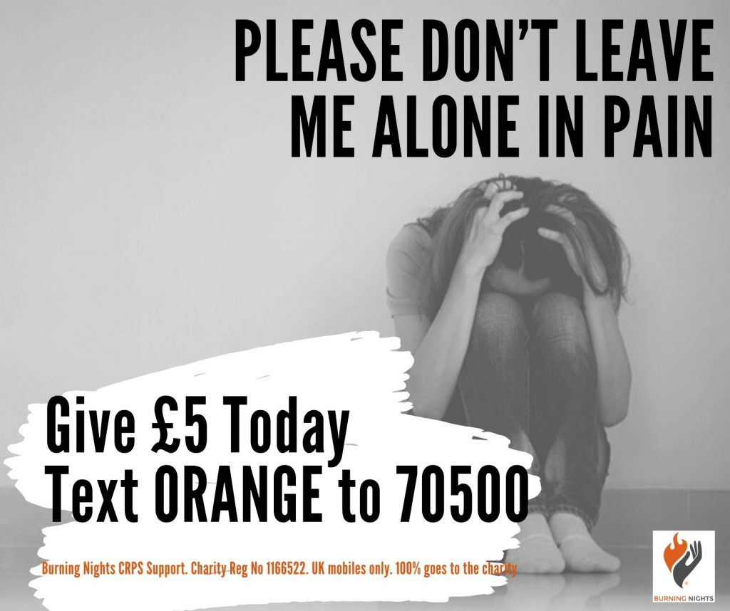 You can now make a one-off donation of £5 by Text - Please Don't leave me alone in pain