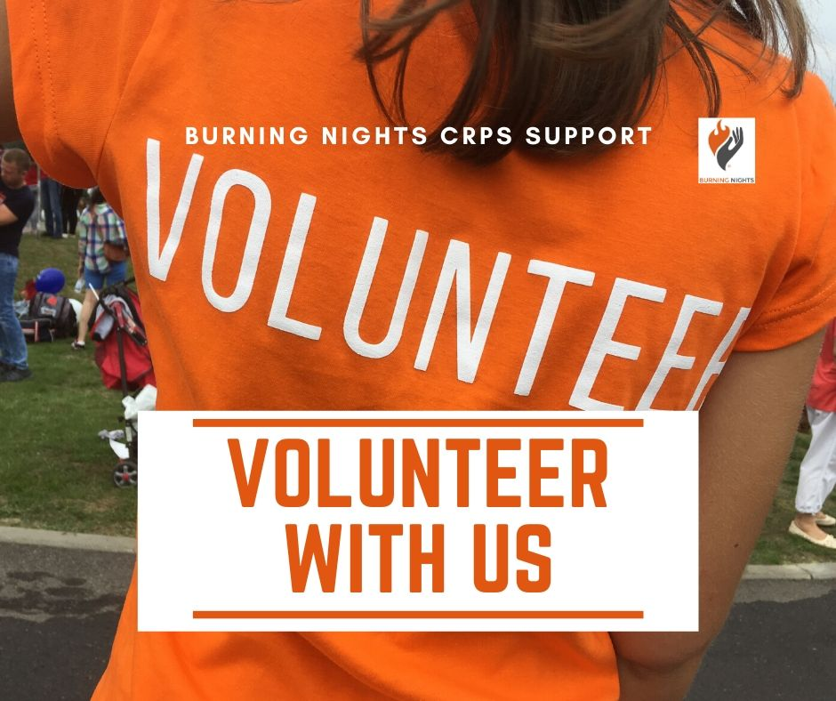 Volunteer with Burning Nights CRPS Support