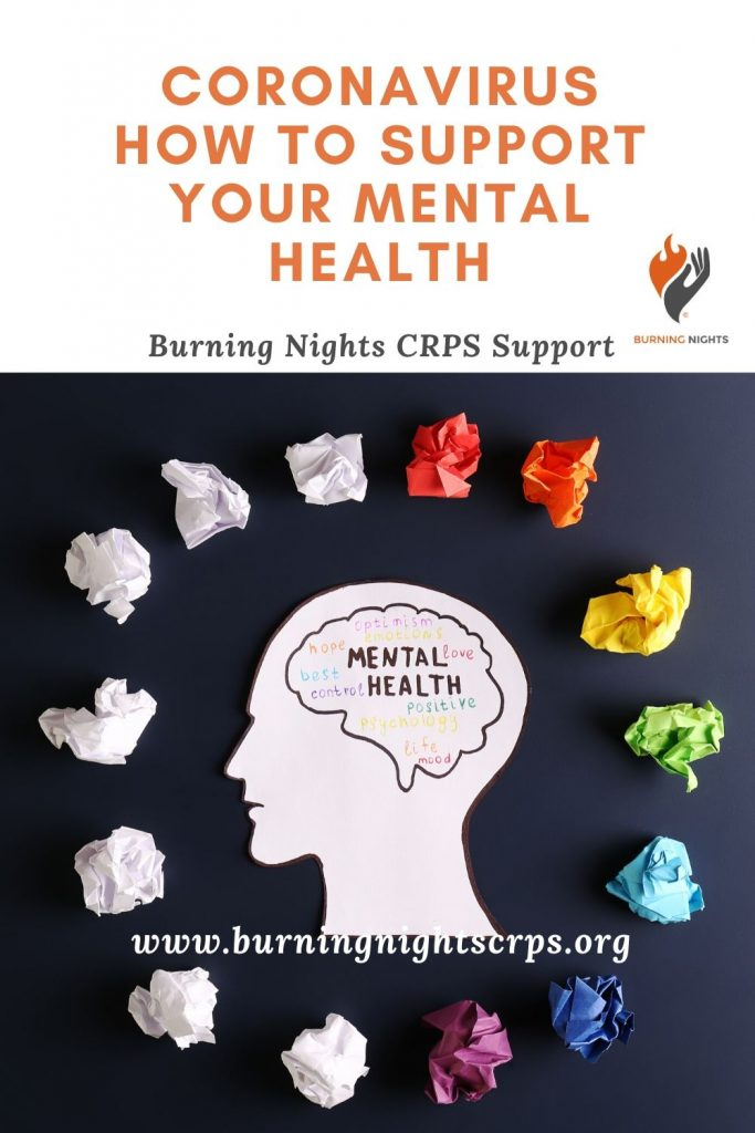 Coronavirus - How to support your mental health especially for those living with a chronic illness. Find some top tips to help you cope and to improve your mental wellbeing during the coronavirus outbreak