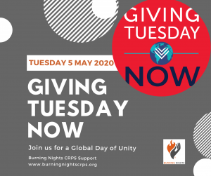 Giving Tuesday Now - Since the coronavirus pandemic our support services have been overstretched. Donating£12 a monthcould help maintain our email information and support service. This helps reduce the loneliness & isolation of CRPS patients or their families