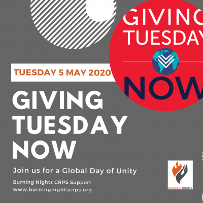 Giving Tuesday Now - Since the coronavirus pandemic our support services have been overstretched. Donating £12 a month could help maintain our email information and support service. This helps reduce the loneliness & isolation of CRPS patients or their families