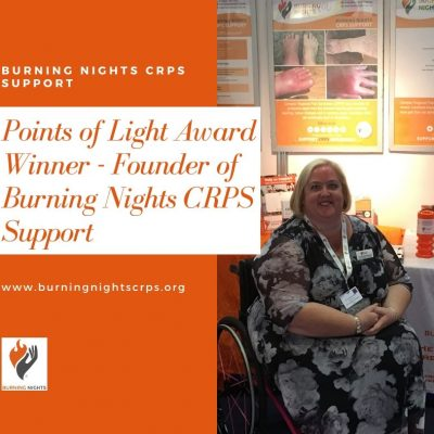 Points of Light Award Winner - Founder of Burning Nights CRPS Support, Victoria Abbott-Fleming