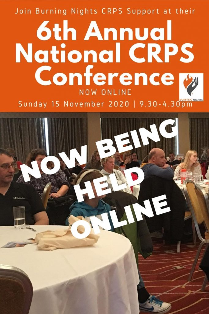 6th Annual National CRPS Conference - now being held online due to the coronavirus pandemic and the guidelines for large groups and conferences