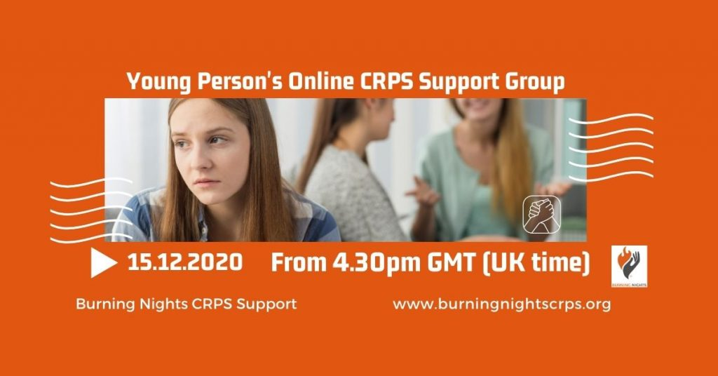 Join us for our Young Person's CRPS Support Group on 15 December 2020
