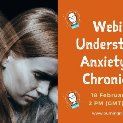 Webinar Event - Understanding Anxiety with Chronic Pain - 18 February 2021 at 2pm UK time