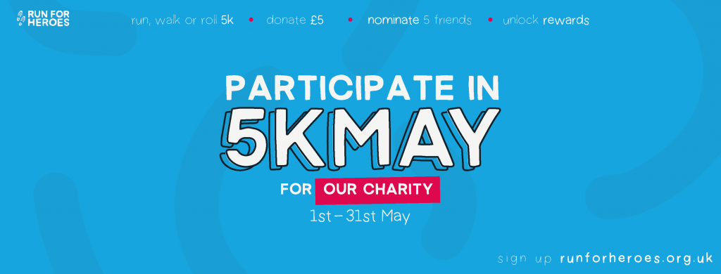 Help us provide life saving counselling in the 5k May Challenge