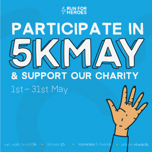 Take part in the 5k May challenge in support of Burning Nights CRPS Support