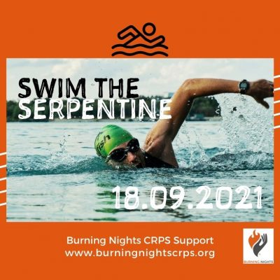 Take on the Swim The Serpentine 2021 to support Burning Nights CRPS Support charity