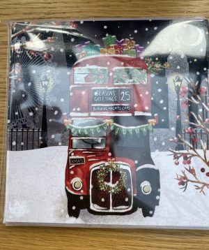 Christmas cards - Christmas Bus number 25